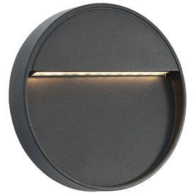 Lămpi de perete LED de exterior, 2 buc., negru, 3 W, rotund