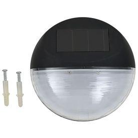 Lămpi solare de exterior, 24 buc., negru, rotund, LED