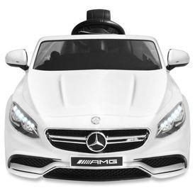 Mașinuță electrică Mercedes Benz AMG S63, alb, 12 V