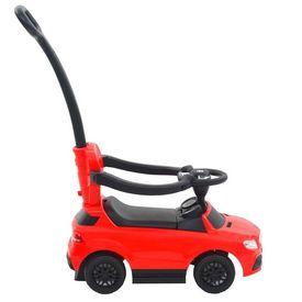 Mașinuță ride-on cu bară de împingere, Mercedes Benz GLE63 Roșu