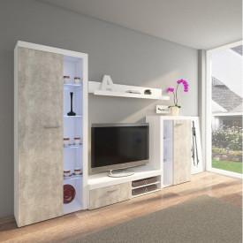 Mobilier living beton deschis/alb GL ROCHESTER