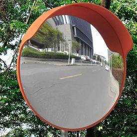Oglindă rutieră plastic PC convexă de exterior 45 cm portocaliu