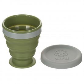 Pahar pliabil cu capac, silicon, BPA free, 200 ml MFH