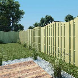 Panou pentru gard din lemn de pin impregnat, design arcadă