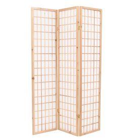 Paravan pliabil cu 3 panouri, stil japonez, 120x170 cm, Natural