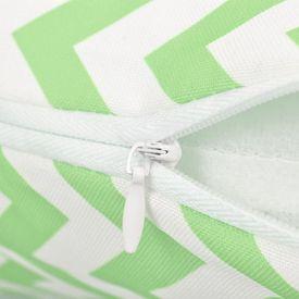 Perne de exterior, 2 buc., verde măr, 45x45 cm, imprimeu zigzag
