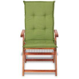 Perne pentru scaun de grădină 117 x 49 cm, verde, 2 buc.