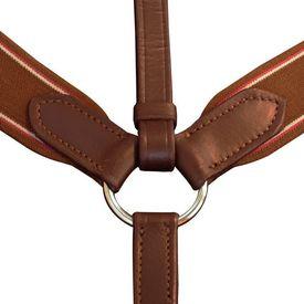 Pieptar cu martingală elastic reglabil din piele pentru ponei, maro