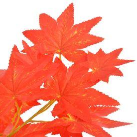 Plantă artificială arțar cu ghiveci, roșu, 120 cm
