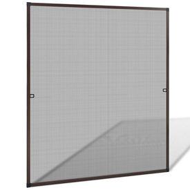 Plasă de insecte pentru fereastra, 130 x 150 cm, maro