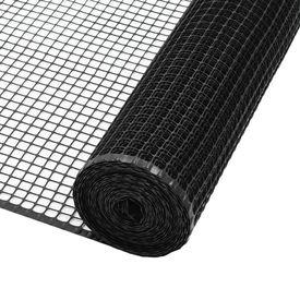 Plasă gard de grădină, negru, 10 x 0,6 m, HDPE
