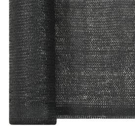 Plasă protecție vizuală, negru, 1,5 x 25 m, HDPE