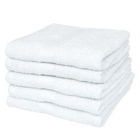 Prosop de duș din bumbac 100%, 500 gsm, 70 x 140 cm, alb, 5 buc