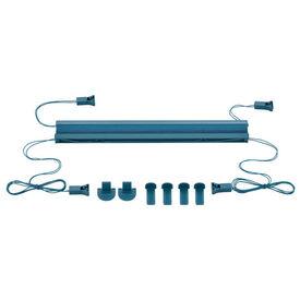 Roleta / perdea plisata - 65x125 cm - albastru turcoaz- protectie impotriva luminii si a soarelui - jaluzea - fara gaurire