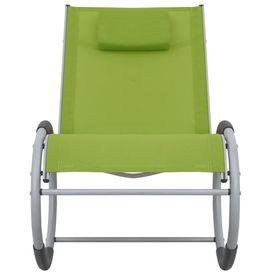Scaun balansoar de exterior, verde, textilenă