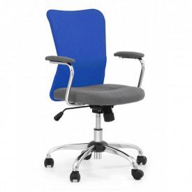 Scaun birou copii mesh HM Andy albastru