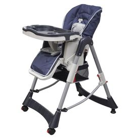Scaun de masă pentru bebeluși Bleumarin