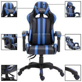 Scaun pentru jocuri, albastru, PU