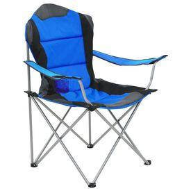 Scaune de camping pliabile, 2 buc., albastru, 96x60x102 cm