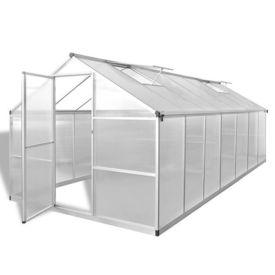 Seră ranforsată din aluminiu, 10,53 m²