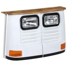 Servantă camion, alb, lemn masiv de mango
