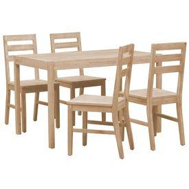 Set mobilier bucătărie, 5 piese, lemn masiv de acacia