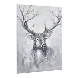 Tablou pictat manual - cerb Model 19 - panza in, cu rama ascunsa - 100x80x3,8cm