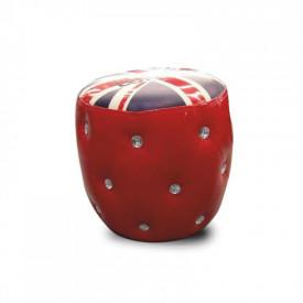 Taburet rosu/cu model GL LONDON