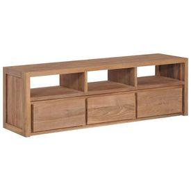 vidaXL Comodă TV, 120 x 30 x 40 cm, lemn de tec cu finisaj natural