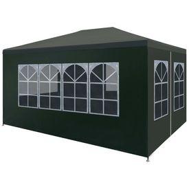 vidaXL Cort pentru petrecere, verde, 3 x 4 m