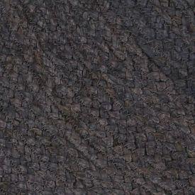 vidaXL Covor manual, gri închis, 90 cm, iută, rotund