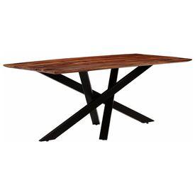 vidaXL Masă de bucătărie, lemn masiv palisandru, 180x90x77 cm