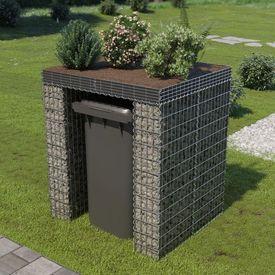 vidaXL Perete gabion pentru pubelă, 110x100x130 cm, oțel galvanizat