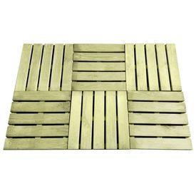 vidaXL Plăci podea, 6 buc., verde, 50 x 50 cm, lemn FSC