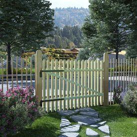 vidaXL Poartă grădină din țăruși, lemn de pin tratat, FSC, 100x75 cm