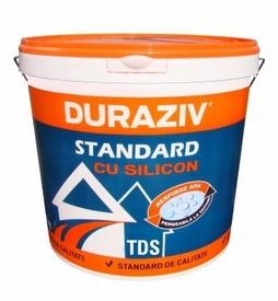 Tencuiala decorativa structurata DURAZIV TDS cu Kauciuc alba - 25 kg
