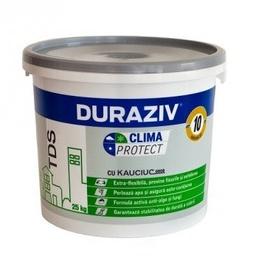 Tencuială decorativă structurată Clima Protect cu Kauciuc Alba - 25 kg