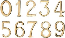 """Cifre Autoadezive din Plastic pt Usa de Apartament """"1""""  - 10 buc"""