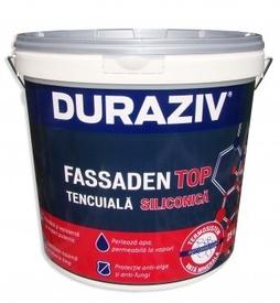 Tencuiala decorativa structurata siliconica alba DURAZIV FASSADEN TOP - 25 kg