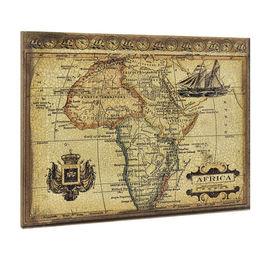 Design fotografie de perete - Harta Africii Model 4- cu rama - 60x80x2,8cm