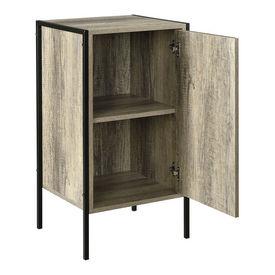 Comoda cu 2 compartimente pentru depozitare - 78 x 42,5 x 39cm - negru / efect lemn
