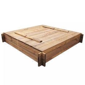 Ladă de nisip din lemn tratat pătrată
