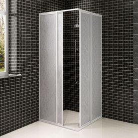 Cabină duș cadru dreptunghiular 80 x 90 cm panouri polipropilenă