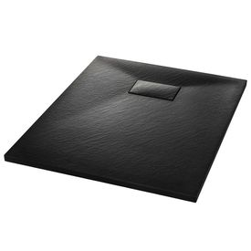 Cădiță de duș, negru, 90 x 70 cm, SMC