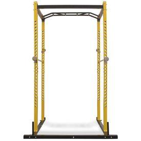 Cadru metalic exerciții forță, 140x145x214 cm, galben și negru