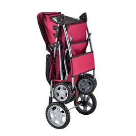 Carucior transport patrupede Mew, 73 x 46 x 100 cm, metal/poliester, rosu, impermeabil, pliabil