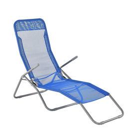 [casa.pro]® Sezlong pliabil, reglabil in 3 trepte, 190 x 60 x 98 cm, otel/poliester, albastru