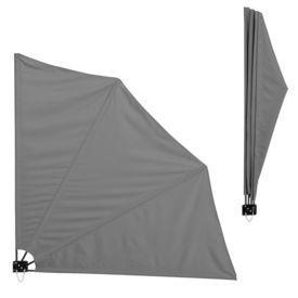 [casa.pro]®. Umbrela de soare montabila pe perete - Paravan solar de perete gri