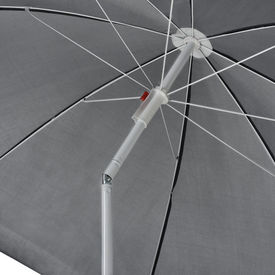 [casa.pro]®.Umbrela plaja 80 cm x 194 cm gri