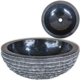 Chiuvetă din marmură 40 cm, negru